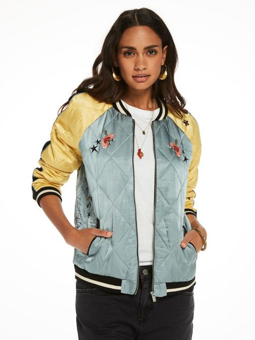 Embroidered Bomber Jacket Scotch Soda Fashion Women S Clothes