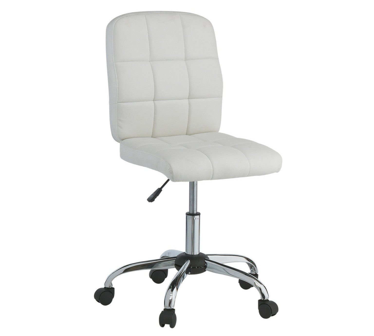 Buy HOME Jarvis Gas Lift Height Adjustable Office Chair - White at ...