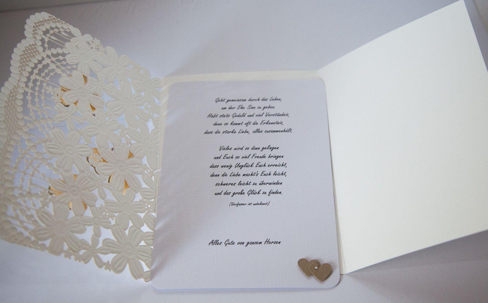 Glückwunschkarte zur Hochzeit Verlobung Handarbeit
