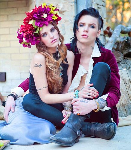 Andy Biersack And Juliet Simms Photoshoot