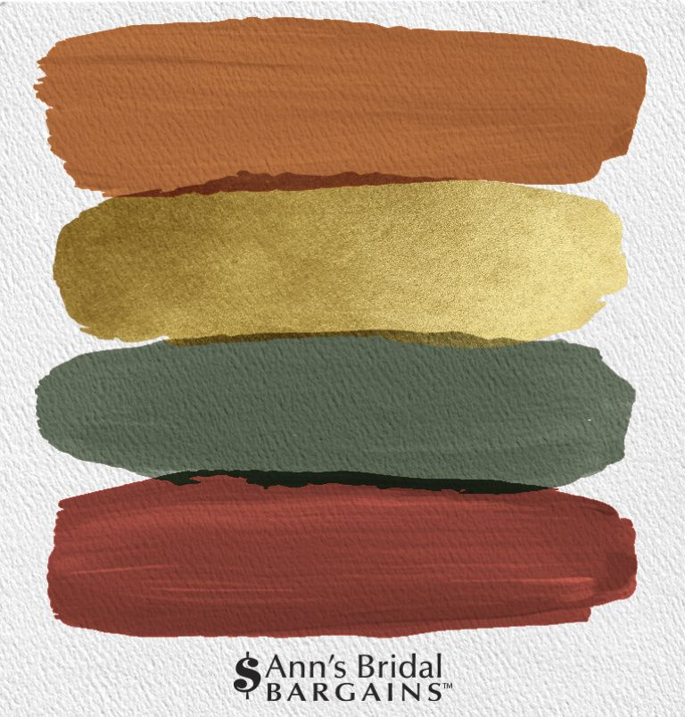 The Perfect Wedding Color Palette: Copper, Gold, Pine and Brick
