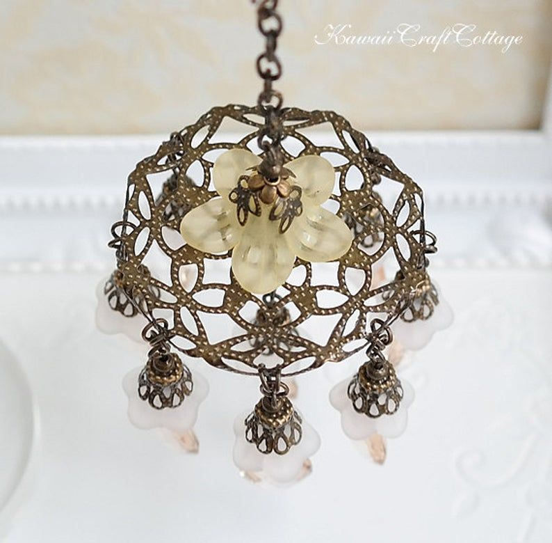 1 6 Scale Miniature Lights Lighting Antique Filigree Etsy Chandelier Decor Antique Filigree Dollhouse Lighting
