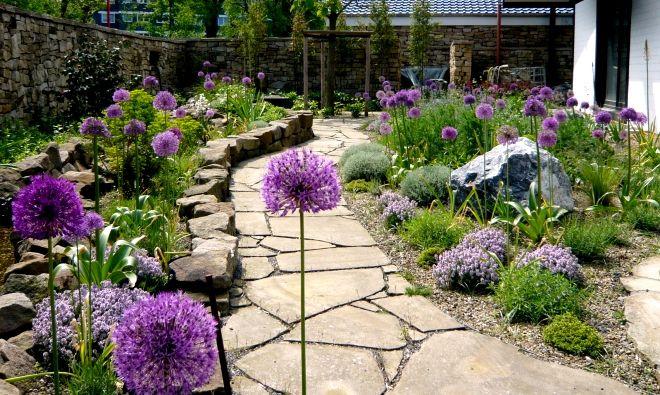 Garten Mediterran mediterran garten mit steinen ber 1000 ideen zu staudenbeet anlegen