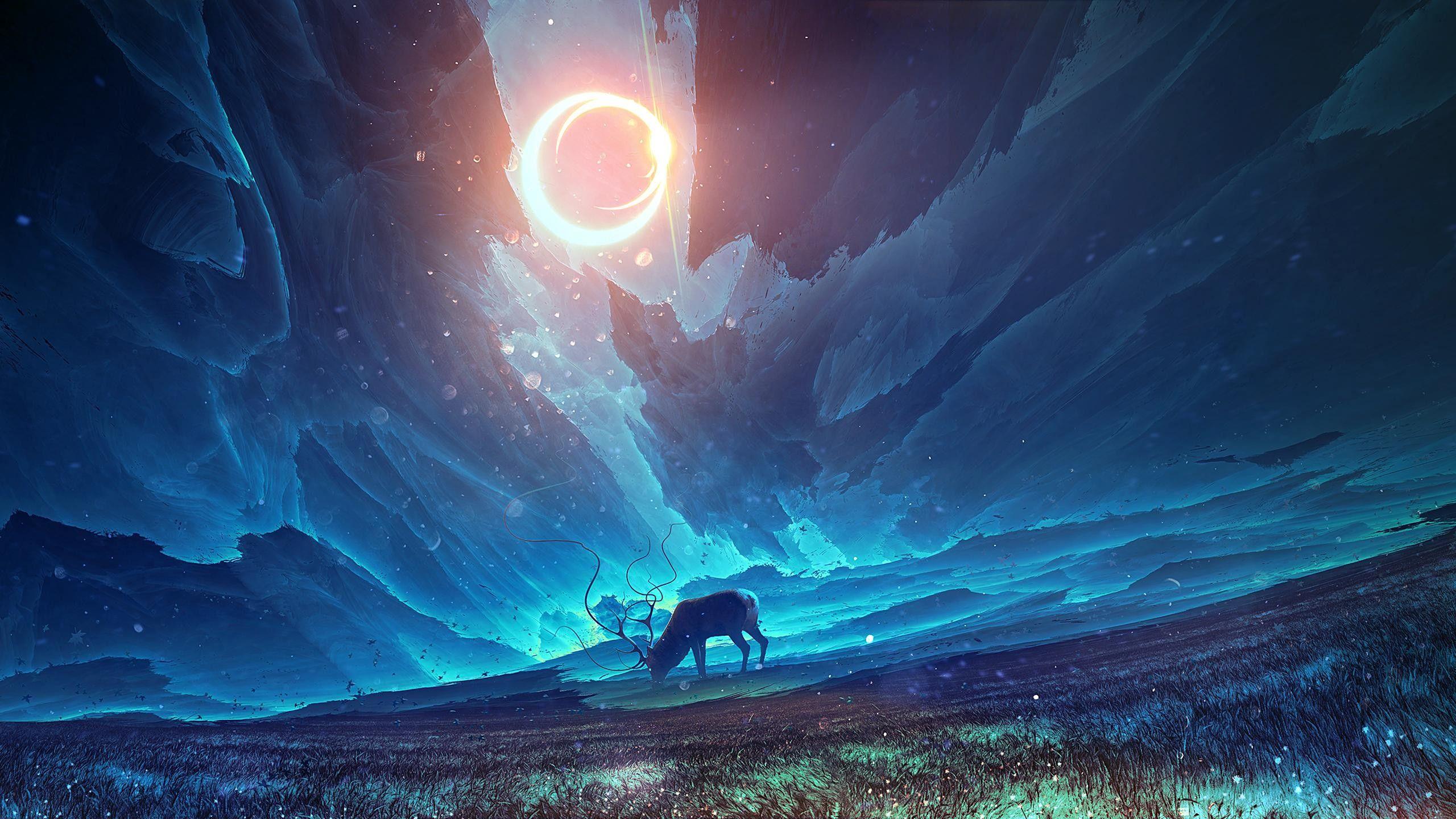 General 2560x1440 Moose Fantasy Art Fantasy Inspiration