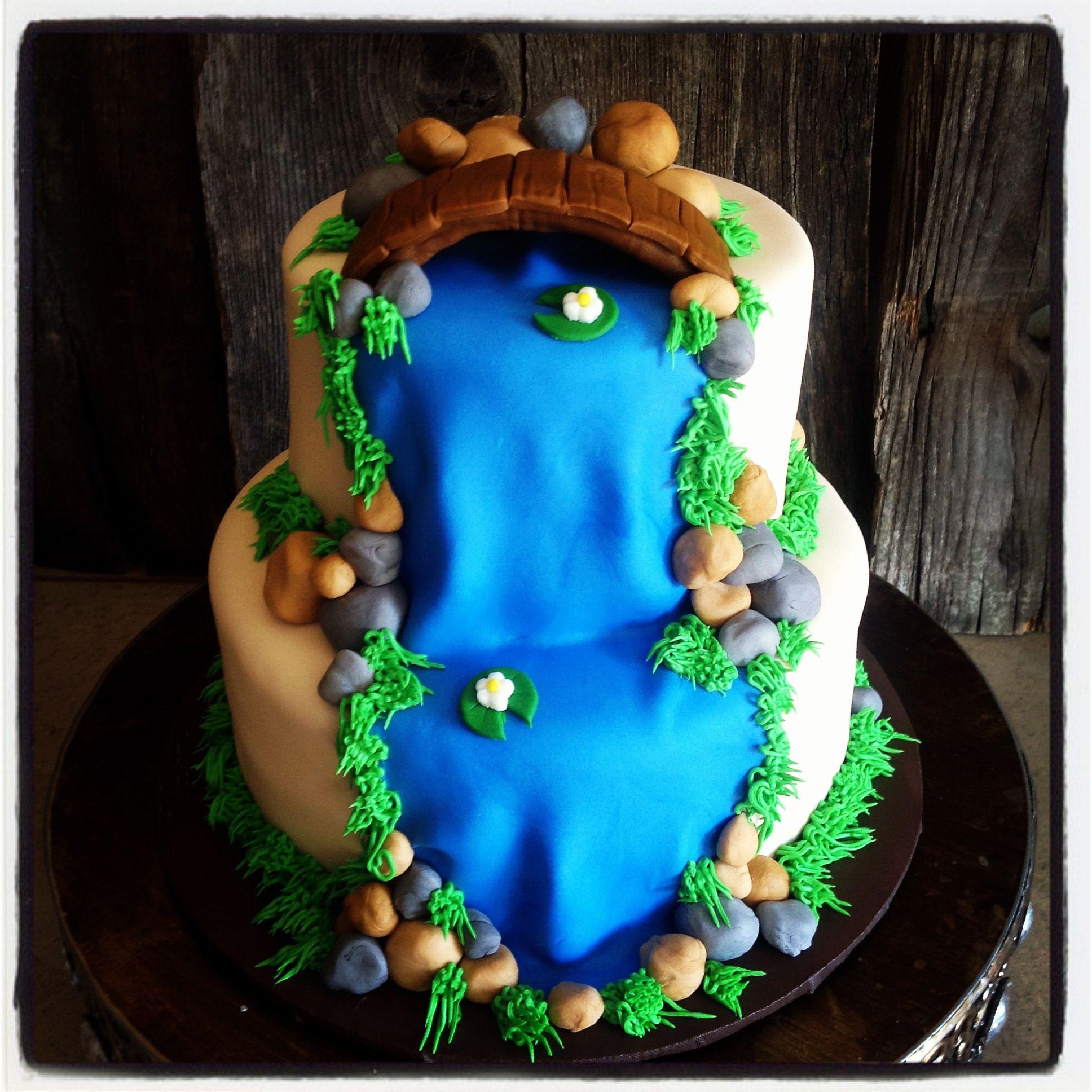 Landscape cake | Garden cakes, Earth cake, Cake decorating