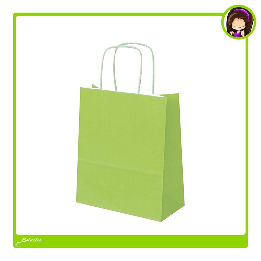 8a1c45ba0 #Bolsas de papel ecológico, color verde pistacho. Bolsas made in Spain.