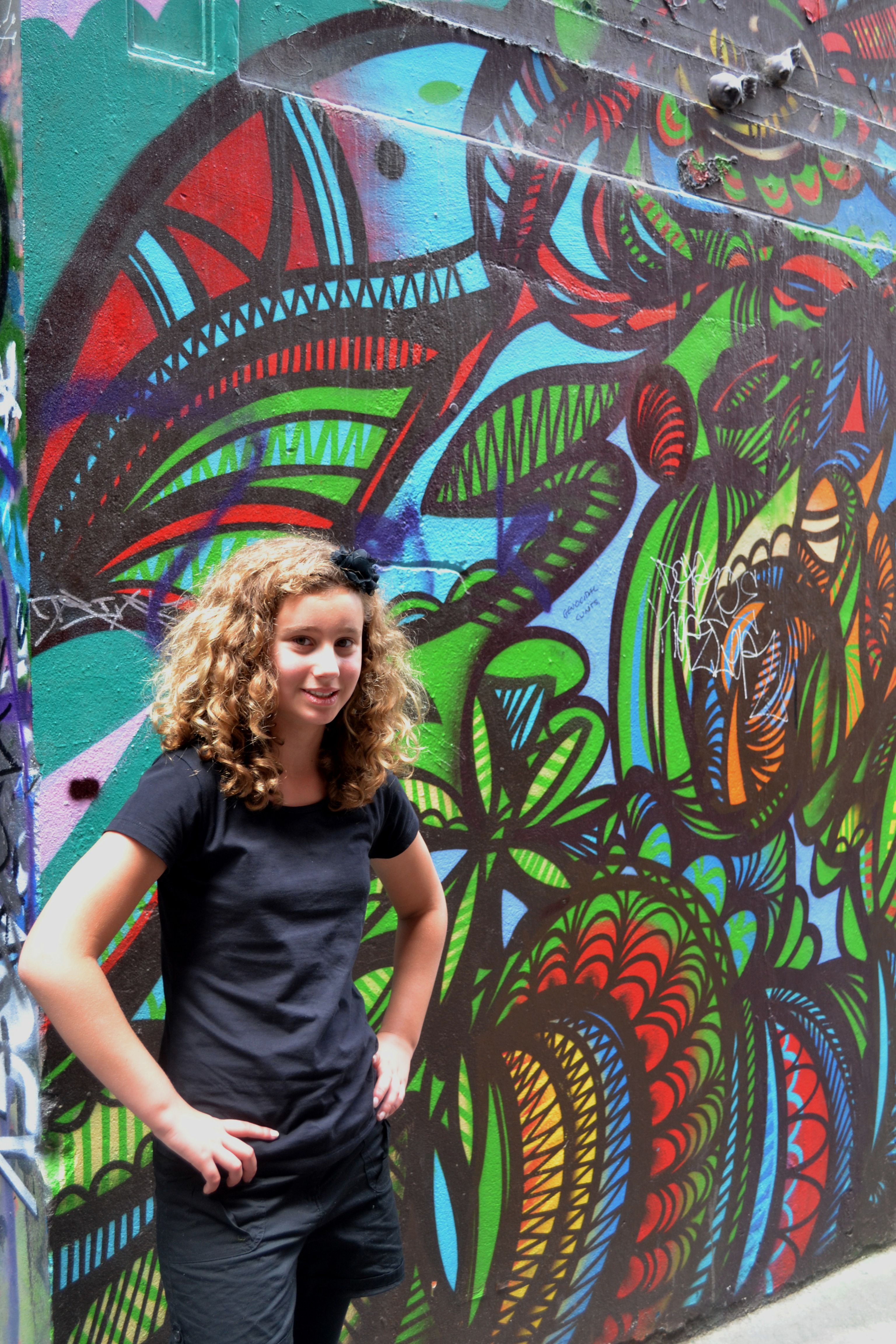 """In Melbourne """"City Life"""" an alley of graffiti art and my"""