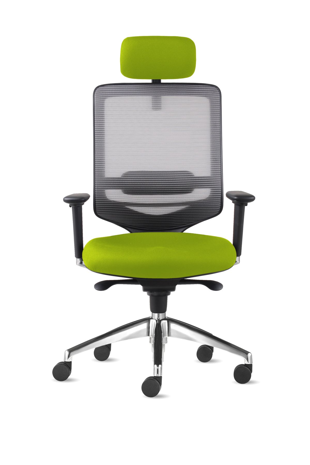Edge Task Chair With Head Rest Polished Base Gas Lift Seat Slider ...