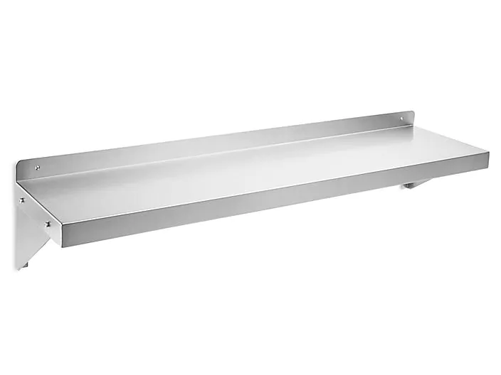 Solid Wall Mount Shelving 48 X 12 X 10 H 7499 Uline In 2020 Shelving Wall Mounted Shelves Steel Shelving