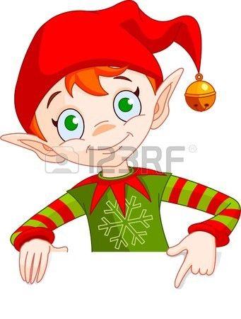 Ilustracion De La Feliz Navidad Del Duende Christmas Characters Christmas Elf Christmas Illustration