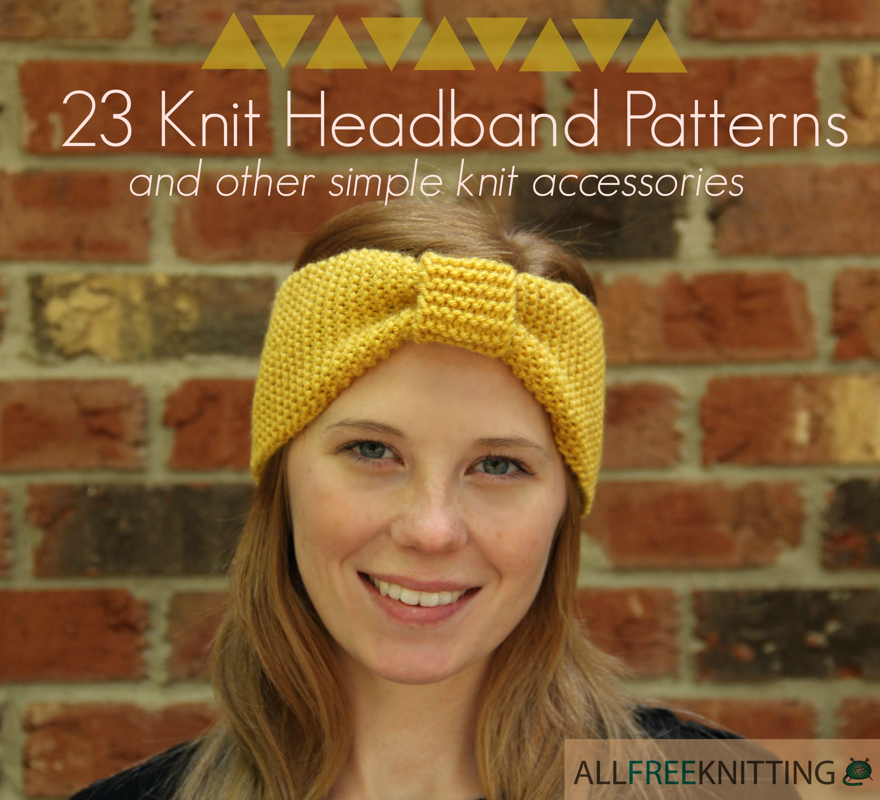 25 knit headband patterns and other simple knit accessories knit this cheerful garter stitch knit headband pattern is sure to brighten the gloomiest of moods theres no way to hide a smile while wearing the goldenrod bankloansurffo Images