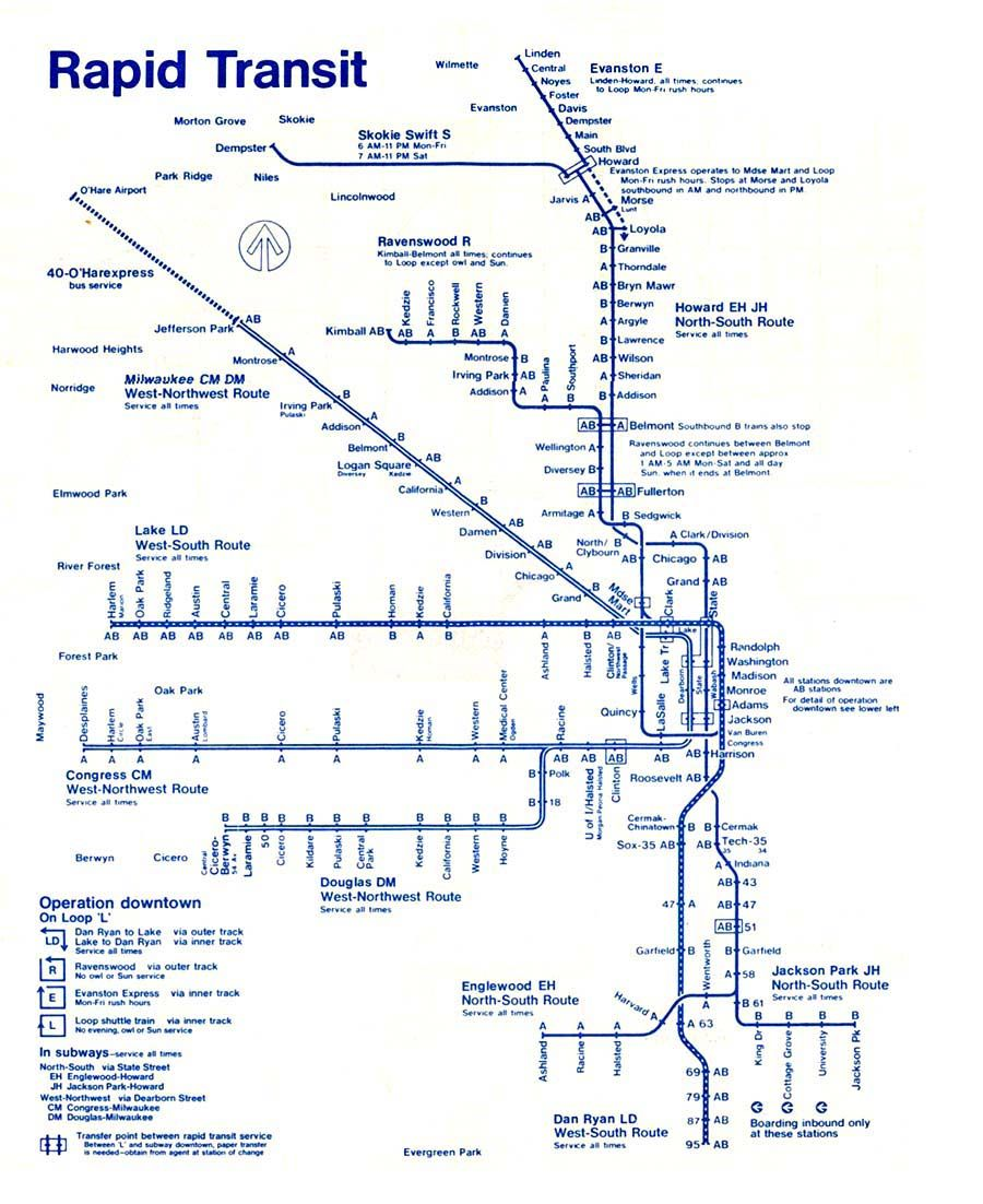 Map of the actually fairly easy train system i used for years map of the actually fairly easy train system i used for years chicago el stops sciox Gallery