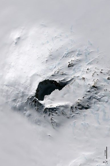 Along Antarctica's Pacific coast, a chain of volcanoes jut from the ice sheet. The tallest of these is Mount Sidley. The Landsat 8 satellite acquired this image of this volcano on November 20, 2014. Rear Admiral Richard E. Byrd discovered the volcano during a flight on November 18, 1934. He later named the mountain after Mabelle E. Sidley, the daughter of a contributor to the Byrd Antarctic Expedition.