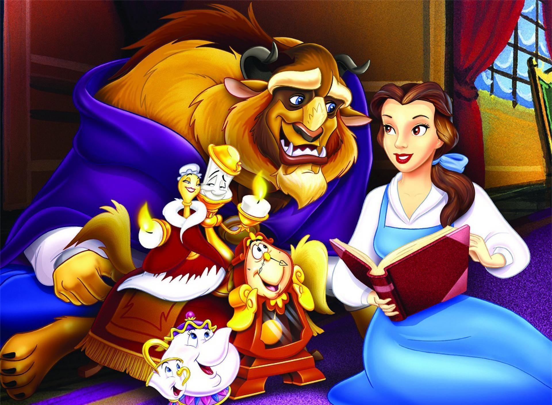 A Bela E A Fera Bela E A Fera Desenho Animado Disney E
