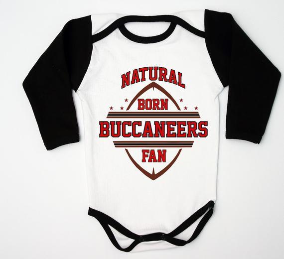 sale retailer b2b91 4ed18 Buccaneers Newborn Fan Baby Romper, Football Baby Jersey For ...