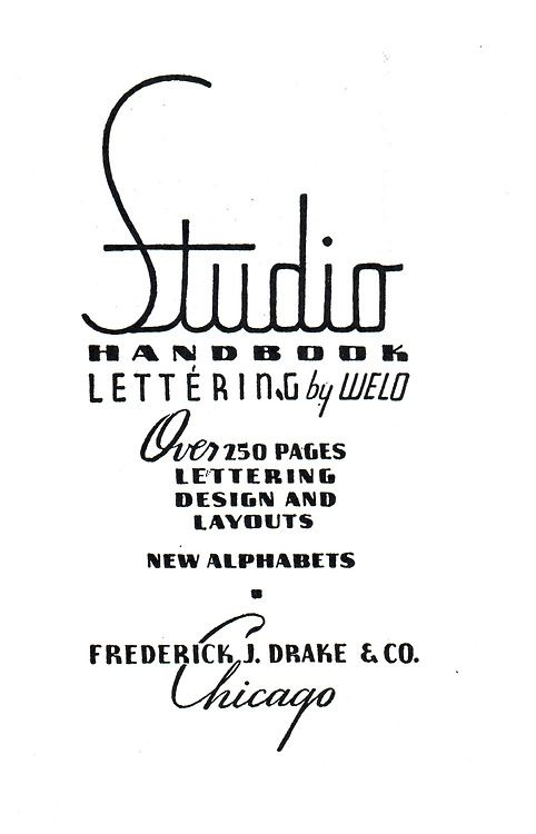 First page from Samuel Welo's Studio Handbook, Letter and