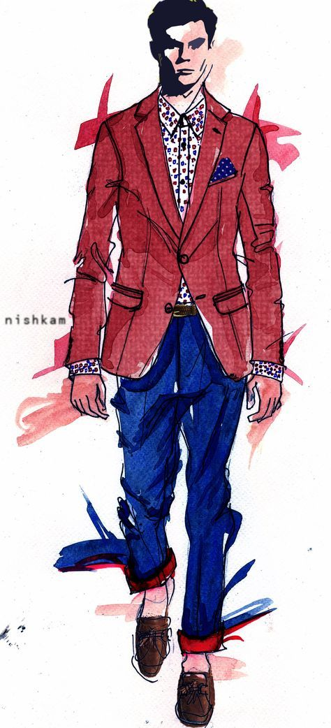 22+ Trendy Fashion Illustration Male Sketches