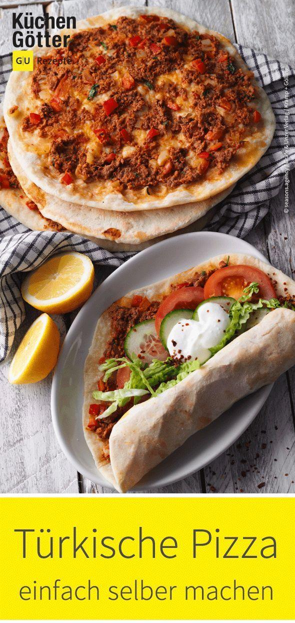 Scharfe türkische Pizza  Fast Food vom Feinsten