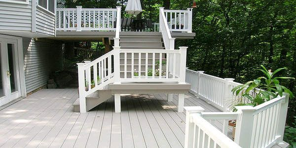If You Want To Build A Deck For Your Garden Or Veranda Using White  Composite Decking