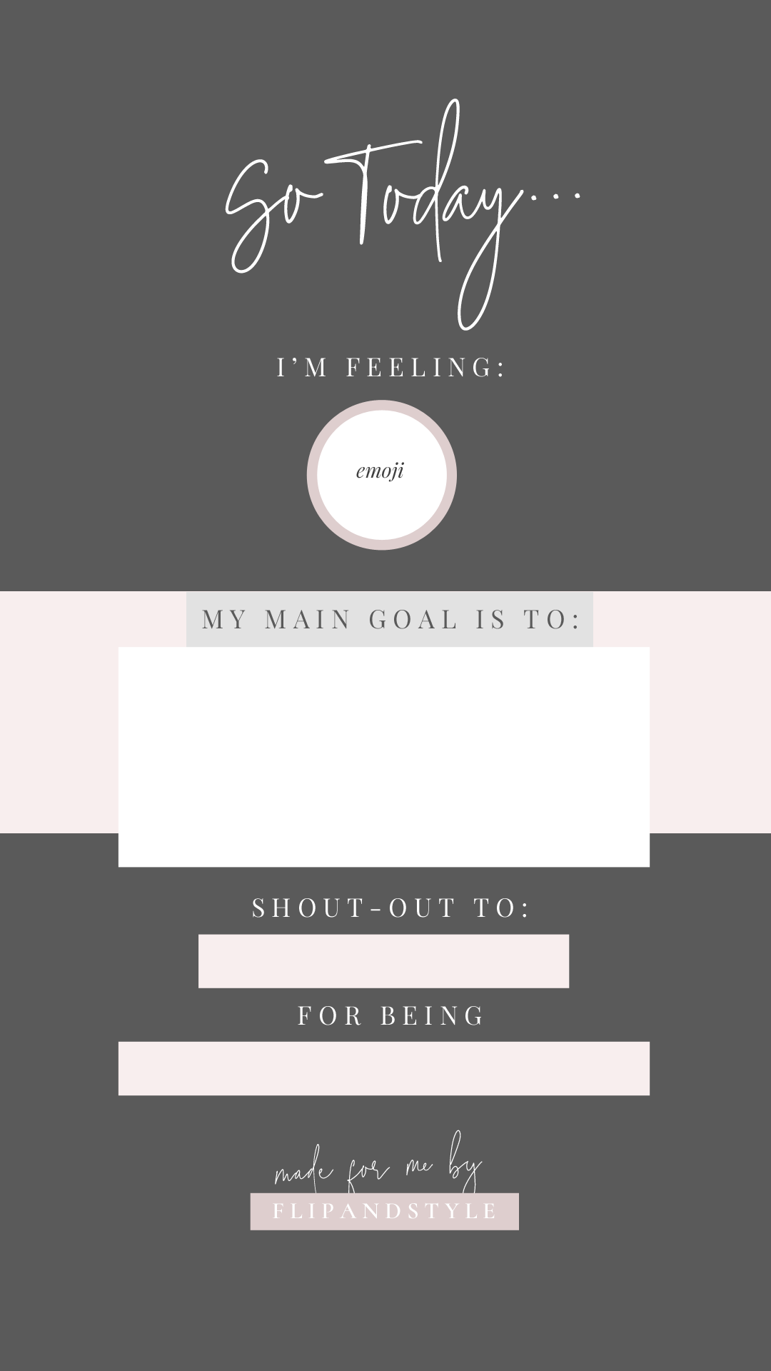 free instagram story template to save fill in and share