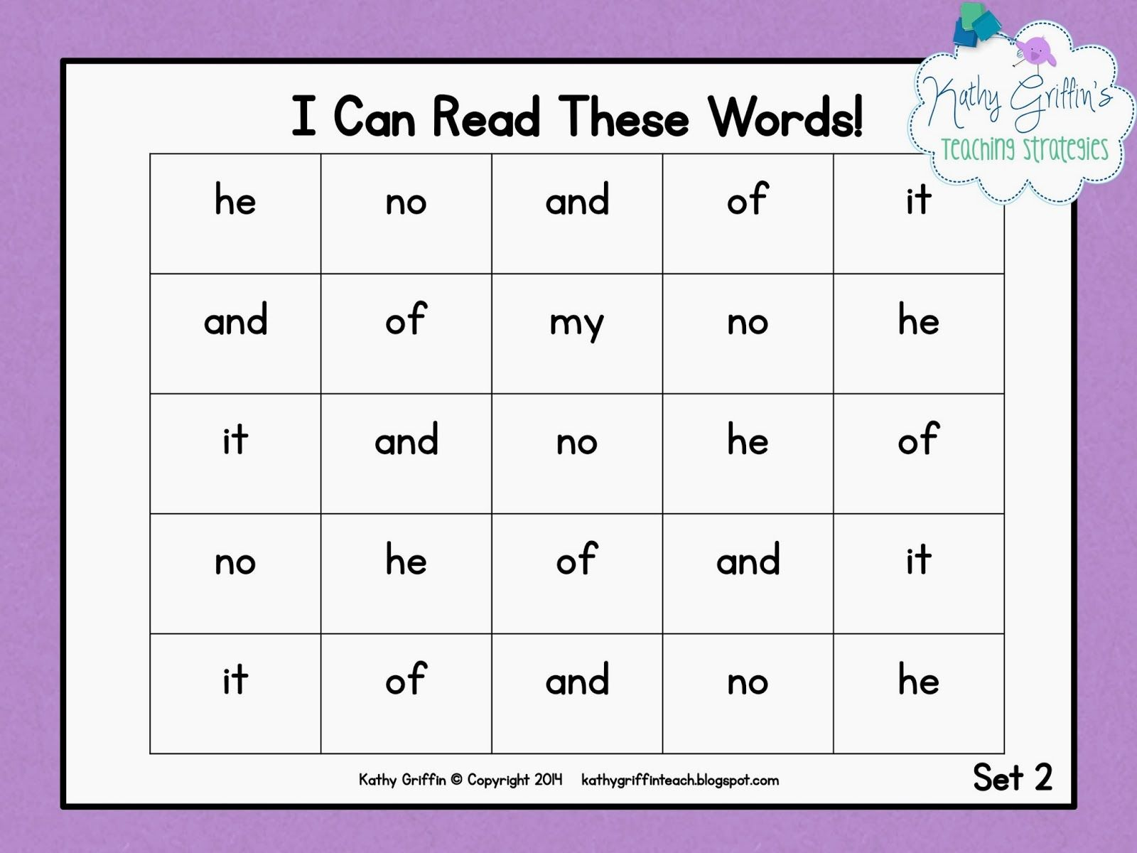 Take The Words From Your Favorite Stories And Make Rapid Word Sight Word Reading Charts To Help