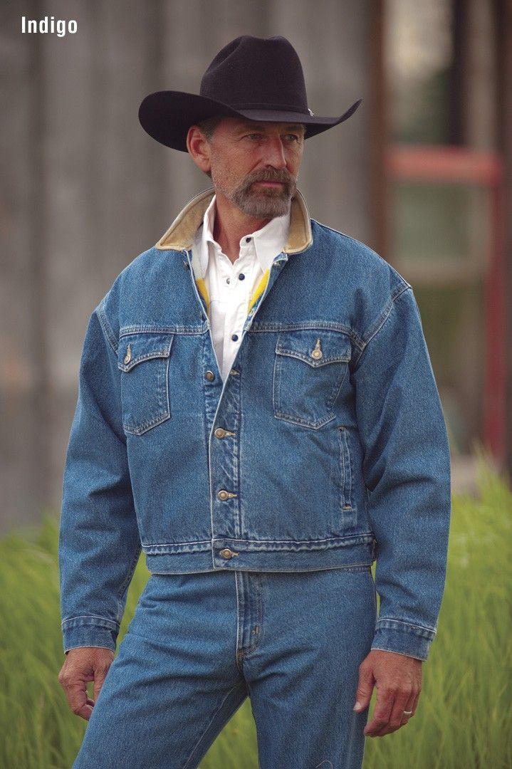 American Made Men's 583 Legend Denim Jacket with Fleece Blanket Lining $160.00 http://www.schaefer-ranchwear.com/schaefer-store/mens-ranchwear/mens-outerwear/legend-denim-jacket-w-fleece-blanket-lining-6.html