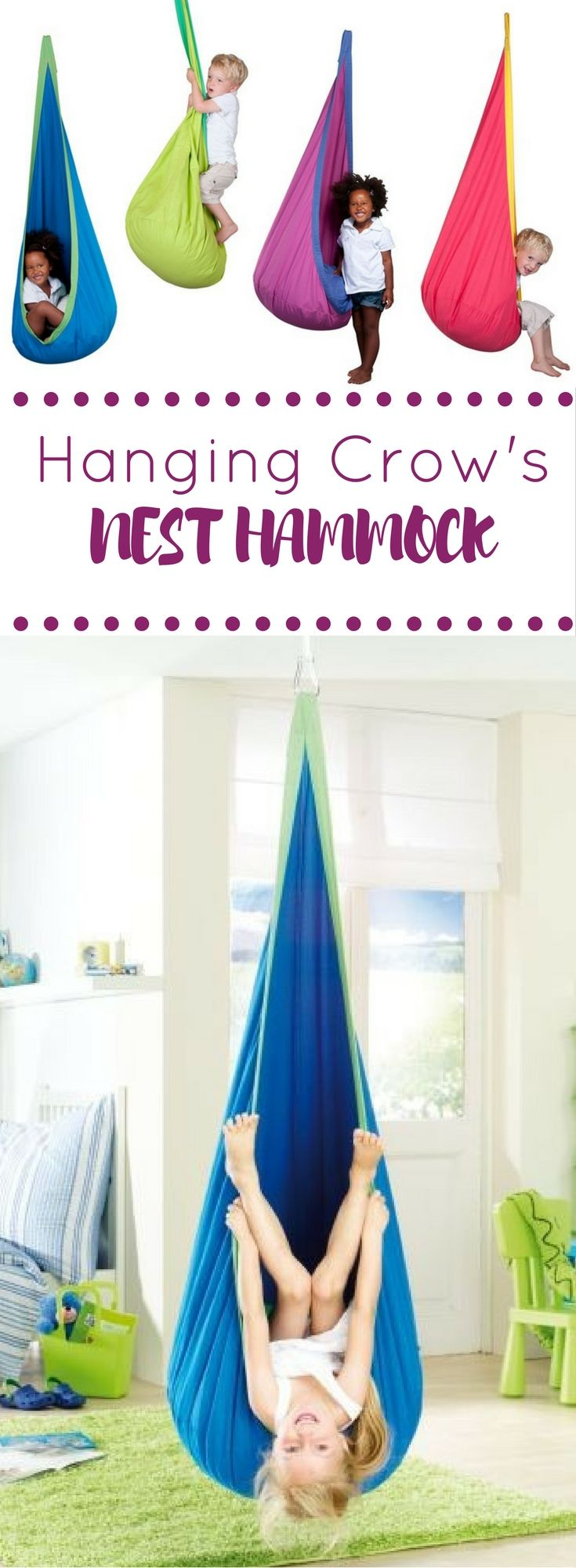 Awesome Kids Hammock + A Great Backyard Idea + Playroom + Interior Design +  Hanging Chair + Indoor Swing + Playroom Ideas + Great For A Reading Nook ...