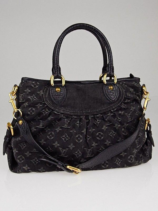 Louis Vuitton Black Denim Monogram Denim Neo Cabby MM Bag - Handbags -  10040290  1125  18 000 day 57a960b0b3c35