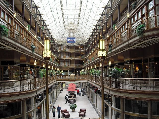oldest indoor mall in the usa 1890 is now a hyatt hotel. Black Bedroom Furniture Sets. Home Design Ideas