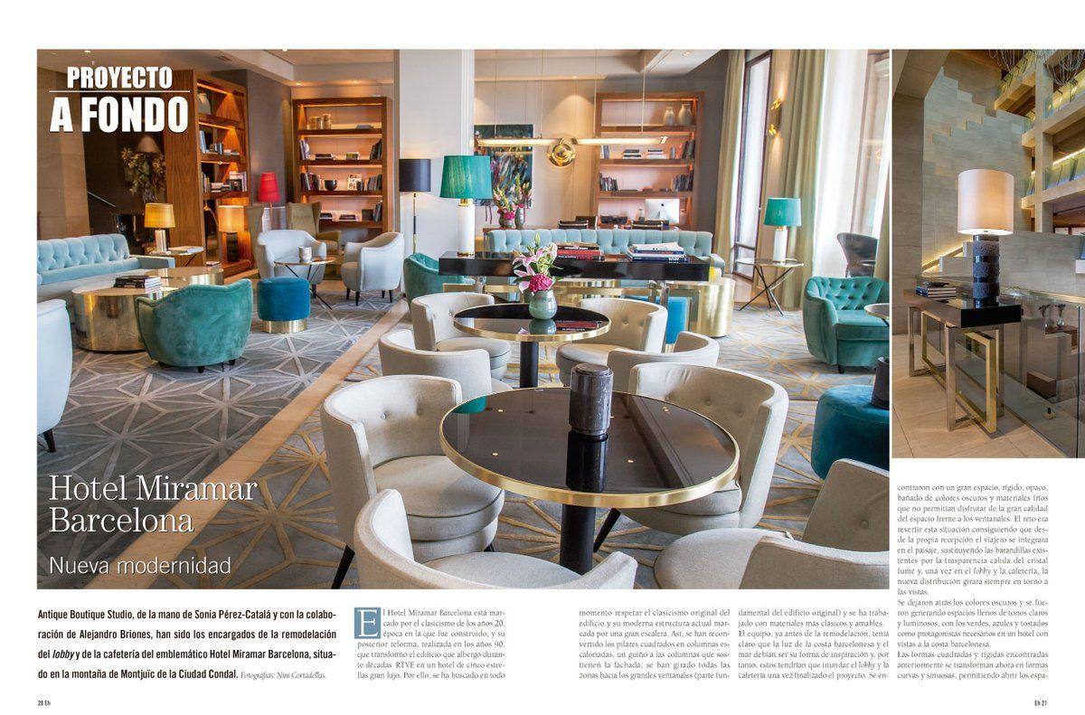 Esta Semana Han Publicado Nuestro Proyecto En El Hotel Miramar  # Muebles Cado Barcelona
