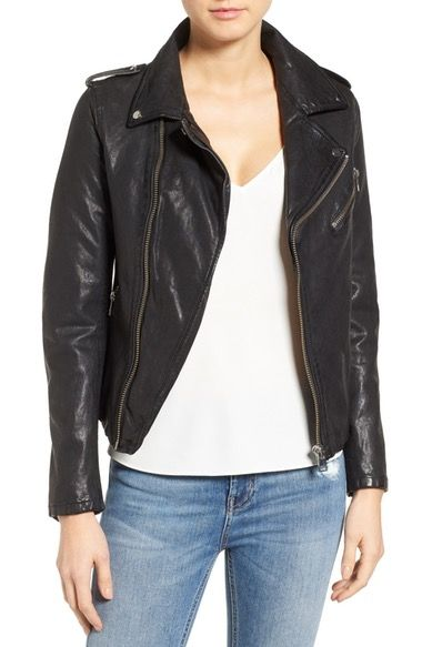 6bcecb424ed3 LAMARQUE Washed Lambskin Leather Moto Jacket available at  Nordstrom ...