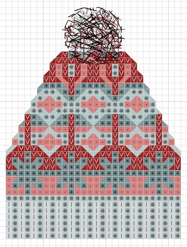 hancock's house of happy: Free Cross Stitch Chart: Fair Isle Knit Toque