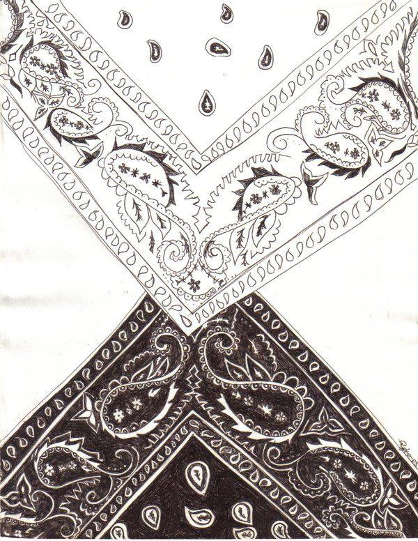 bandana design drawing by blackroseryoko tattoo 39 s pinterest bandana design bandanas and. Black Bedroom Furniture Sets. Home Design Ideas