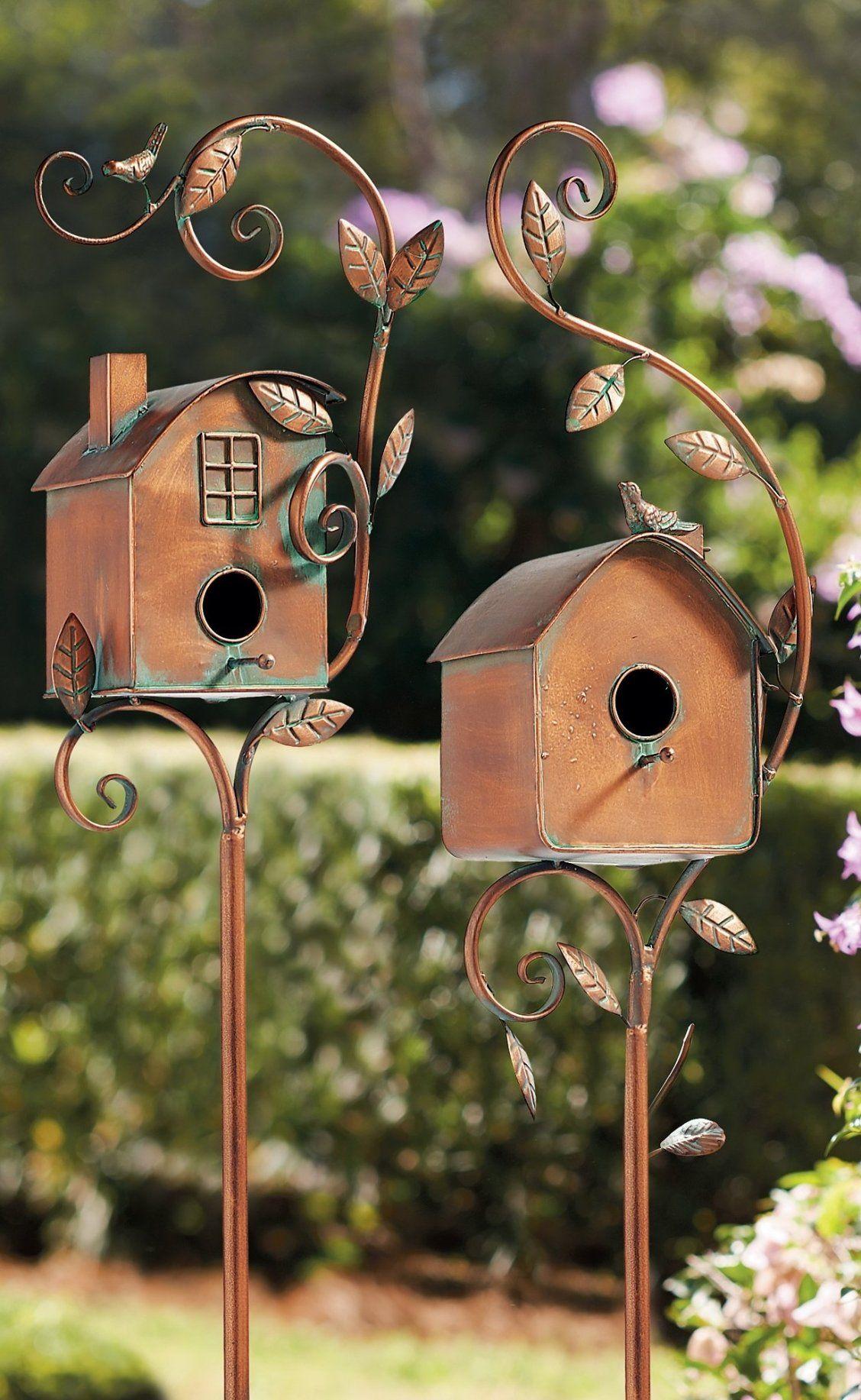 Birdhouse Garden Stakes Grandin Road Bird Houses Shop Wall Decor Garden Stakes