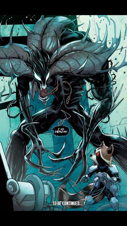 Venom in Guardians of the Galaxy #21 - Valerio Schiti and David Lopez