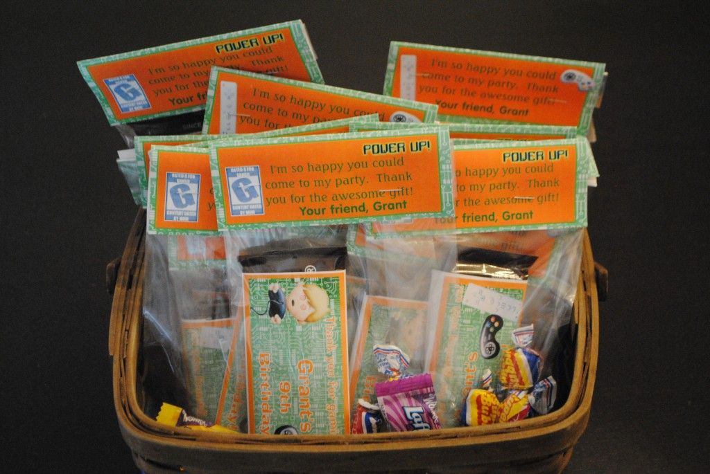 Mobile Video Game Treat Bags Great Ideas For A Boy S