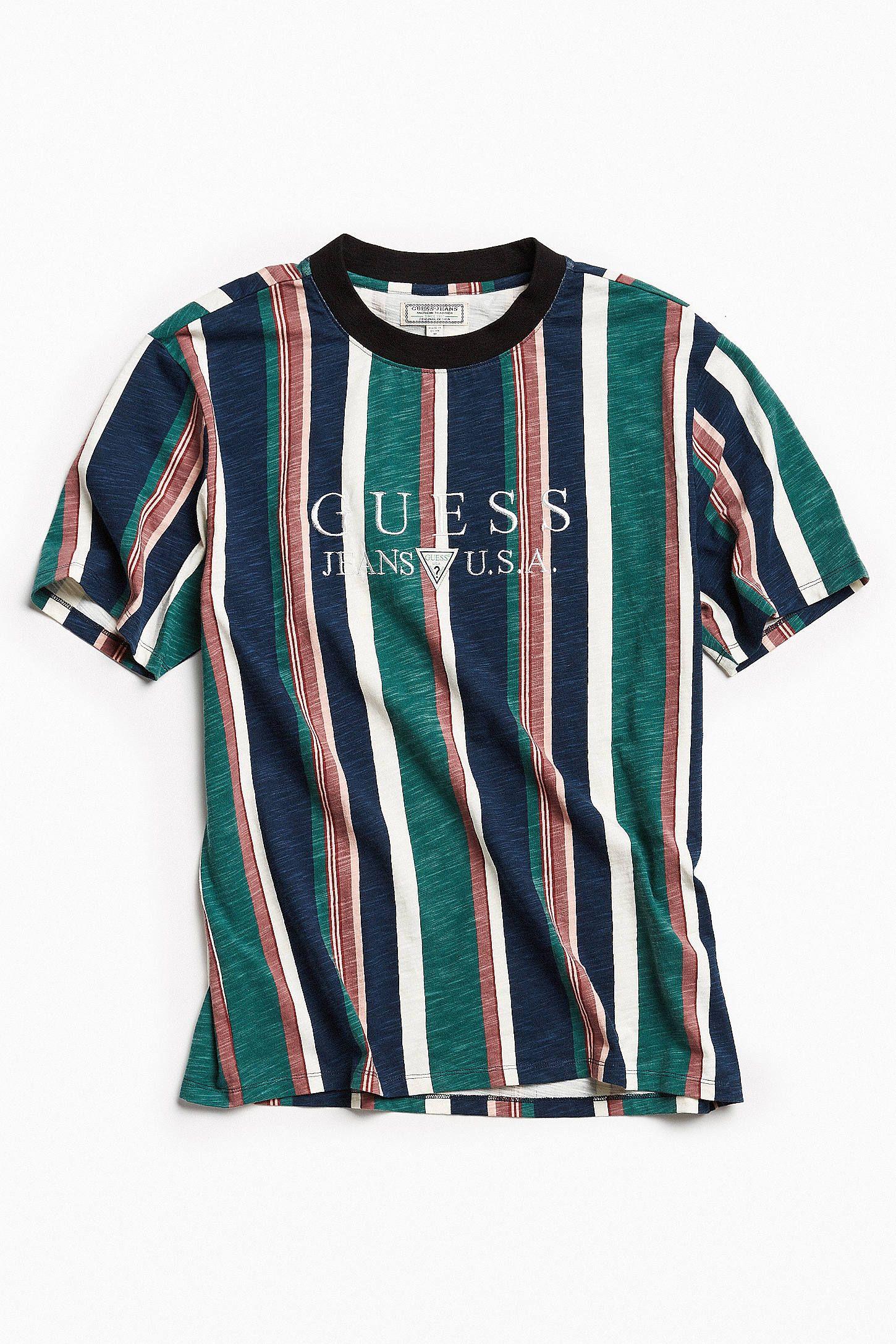 5f9acab5d389 Guess Jeans Usa 1981 Capsule Striped T Shirt Asap Vertical – DACC