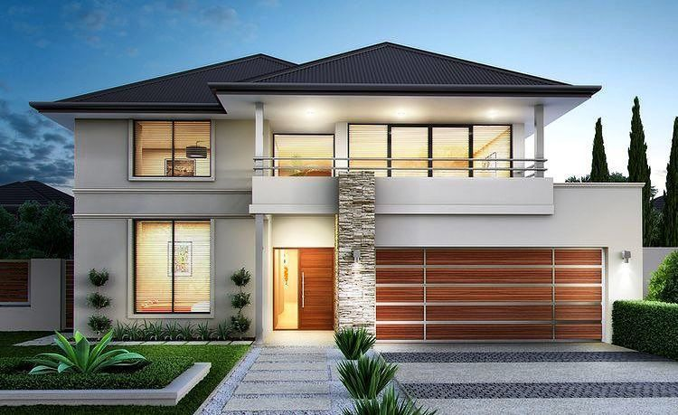 Casa no estilo americano casas americanas en 2019 for Fachadas de casas interiores