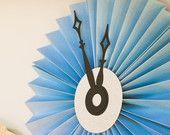 CINDERELLA party decor - Pleated Paper Pinwheel Clocks