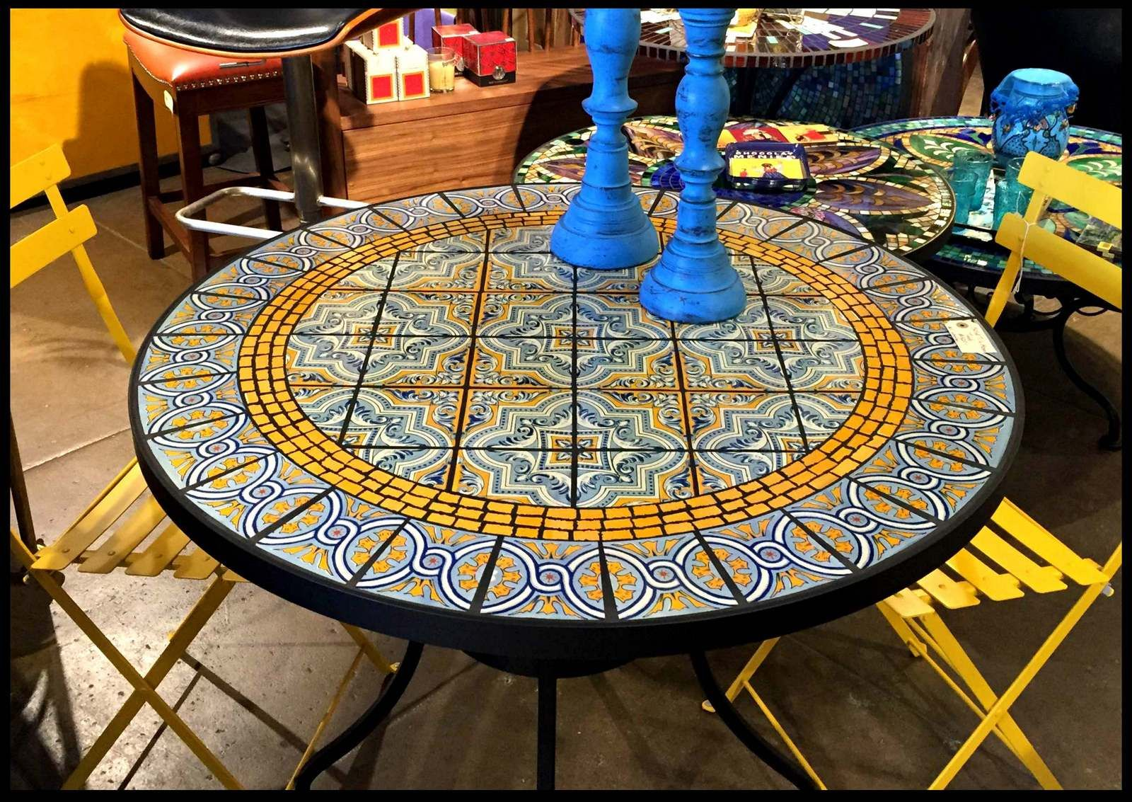Tile and Glass Mosaic Tables   Mosaic tile designs, Mosaic ...
