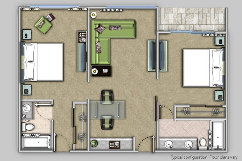 hotel room layout 2 bedroom Google Search Two bedroom
