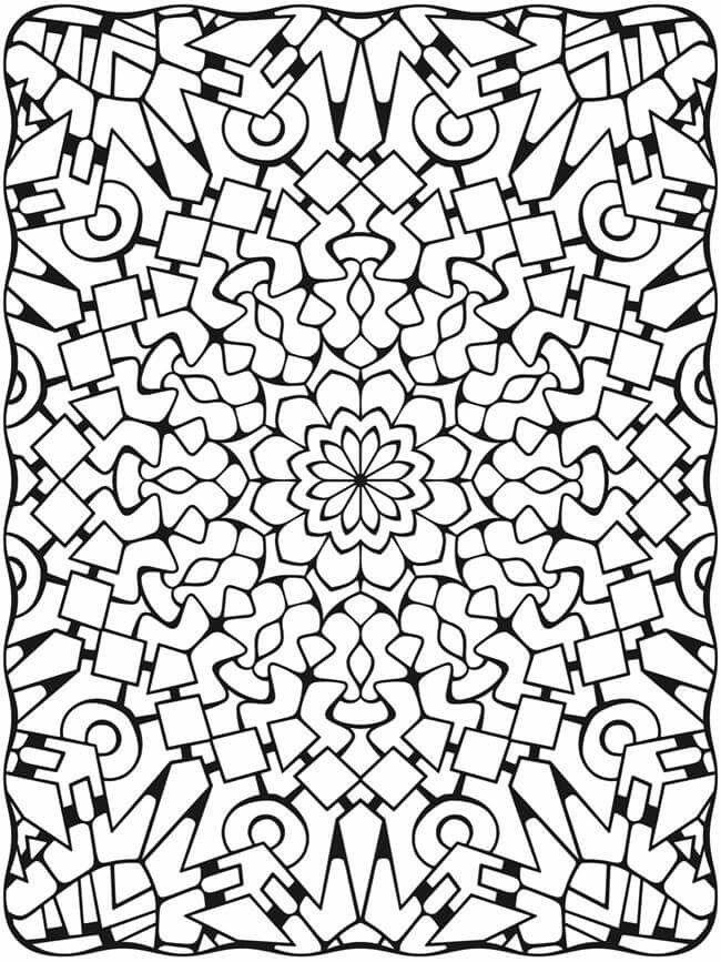 Dimensional design coloring page | von abstrakt bis verspielt ...