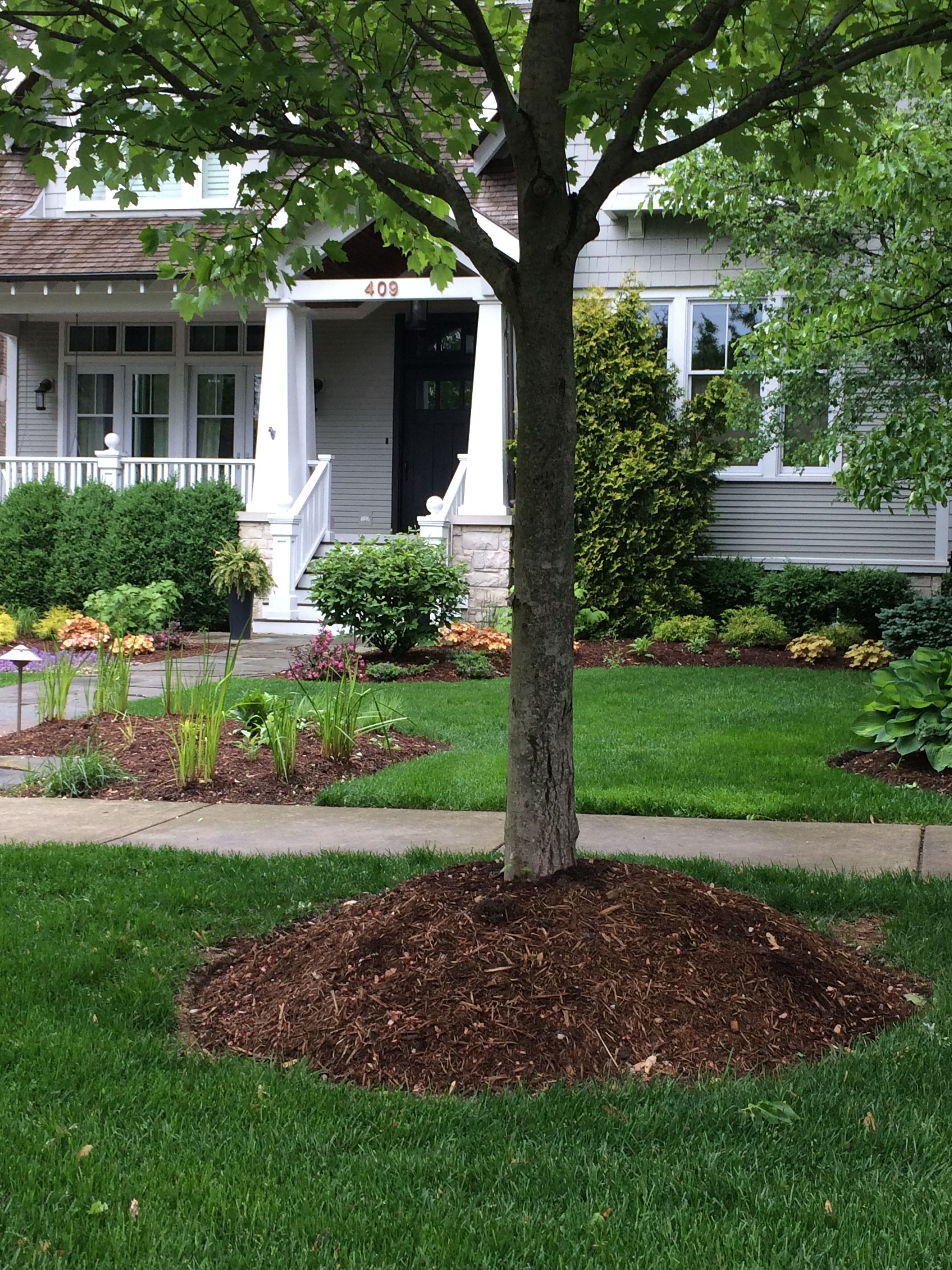 garden installations gallery photo bed and com edging year round landscaping service mulch