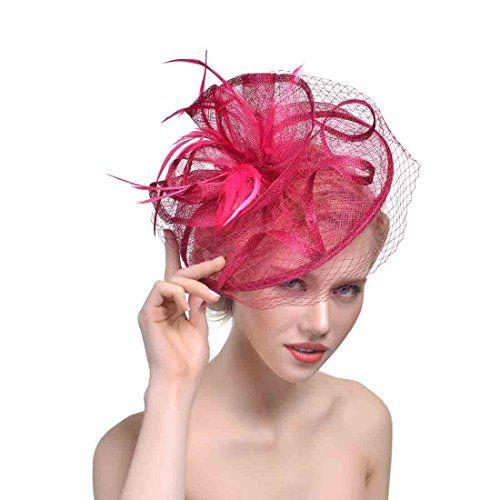84605d96 YSJOY Accessory YSJOY Vintage Feather Veil Mesh Fascinator Derby Hat Bridal  Church Hair Accessory