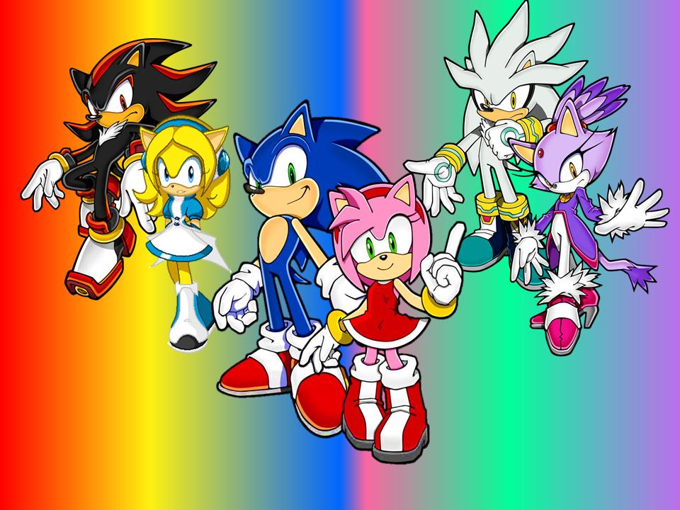 Sonic X Amy, Silver X Blaze And Shadow X Maria By 9029561