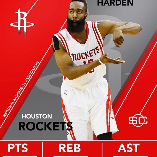 fb7e6bdd744  sportscenter  James Harden records his 2nd 40-pt triple-double this season.  Only Russell West