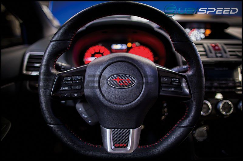 3d carbon steering wheel emblem overlay package 2015