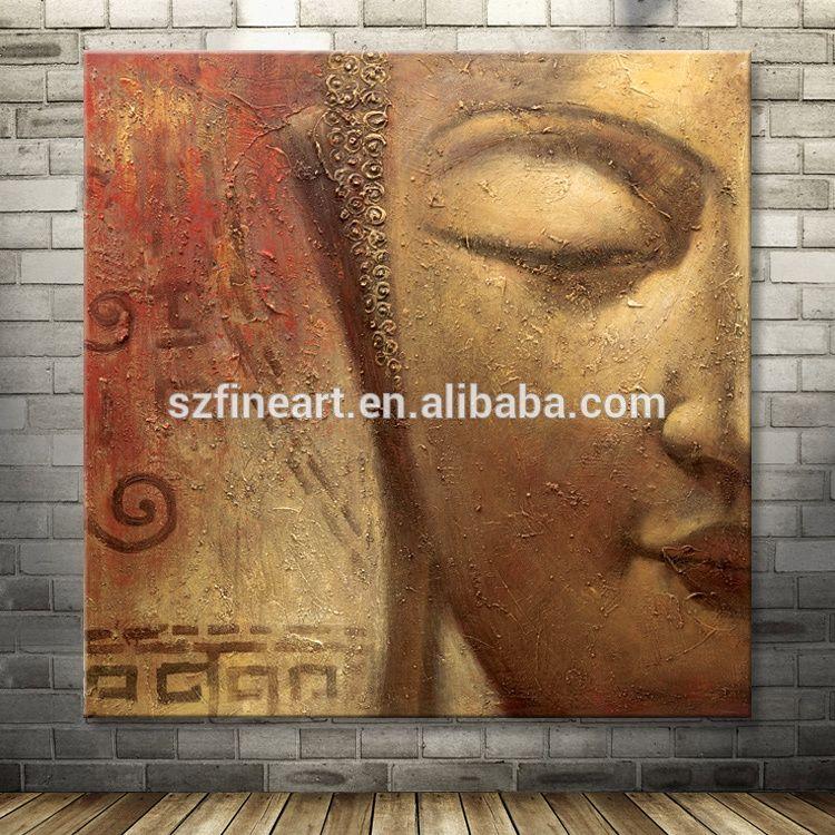 Main-peint la maison décoration Bouddha toile peinture à l\u0027huile