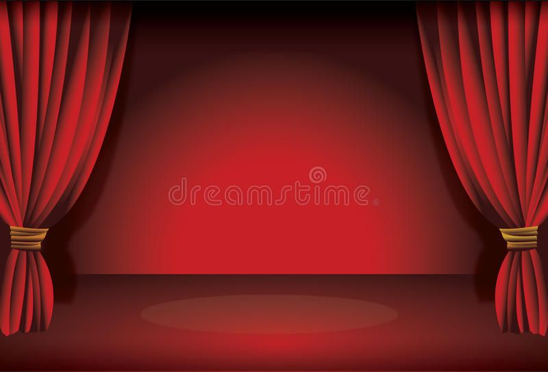 Stage Curtain Illustration Of A Theatre Stage Curtain With Spot