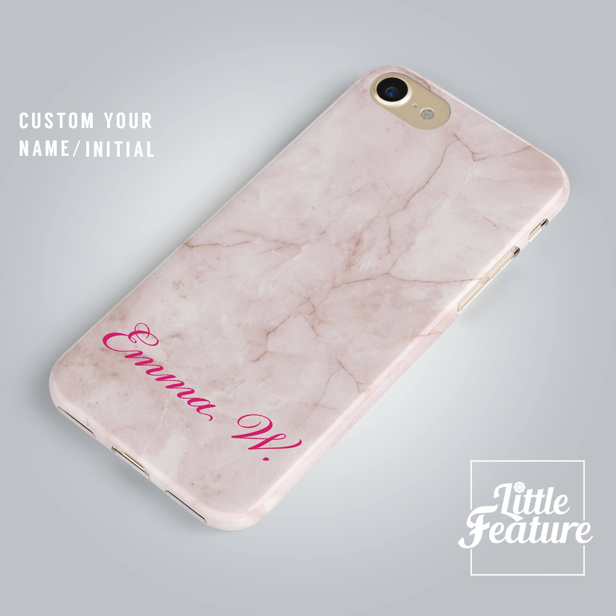 267f20ab62 Excited to share the latest addition to my #etsy shop: Custom Name iPhone X  case, personalised initial iPhone 8 case, Pink Marble iPhone 7 case, Samsung  ...